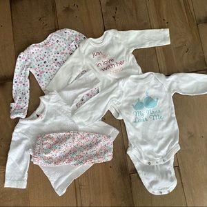 Bundle of Newborn Onesies Outfits Nana Baby Girl